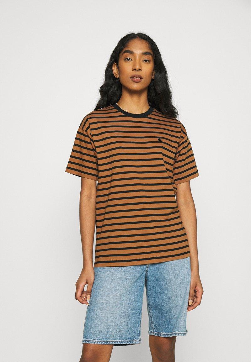 Carhartt WIP - ROBIE - Print T-shirt - robie/rum/black