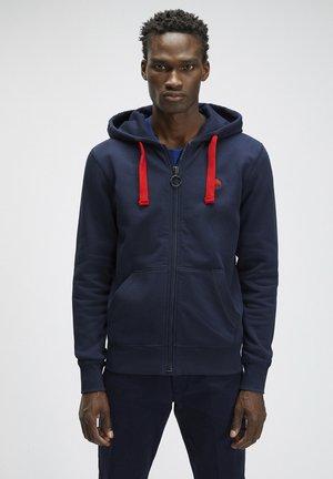 Zip-up hoodie - navy blue