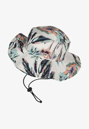 Hat - white with green