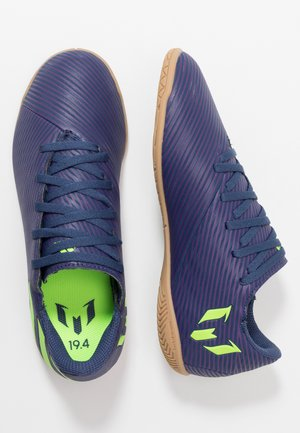 NEMEZIZ MESSI 19.4 IN - Chaussures de foot en salle - tech indigo/signal green/glow purple