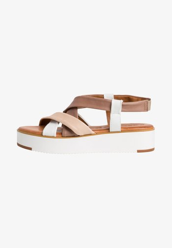 Platform sandals - offwhite comb