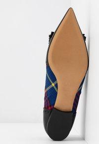 Mulberry - Ankle strap ballet pumps - nero/blue - 4