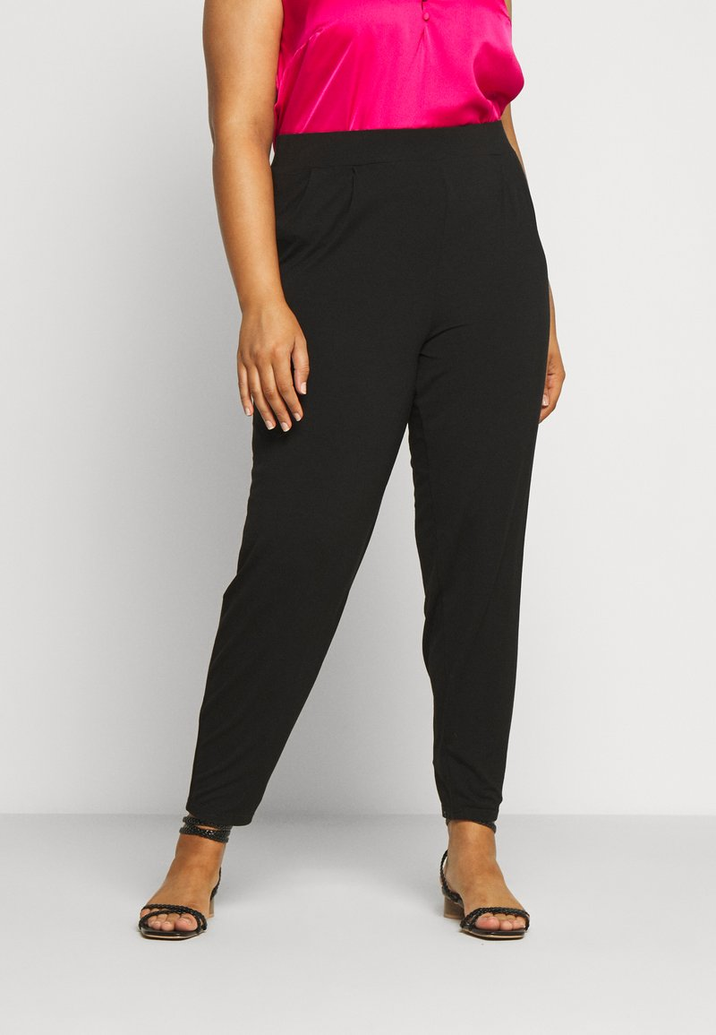 Evans - TAPERED TROUSER - Trousers - black