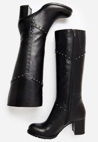 usha - Overknee laarzen - black - 2
