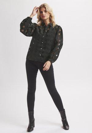 ELINA - Button-down blouse - meteorite
