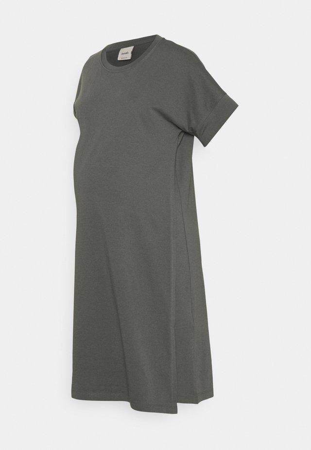 THE SHIRT DRESS - Jerseyjurk - willow green