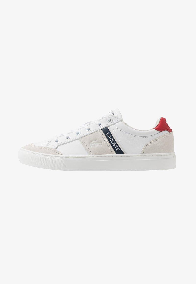 Lacoste - COURTLINE - Matalavartiset tennarit - white/navy/red