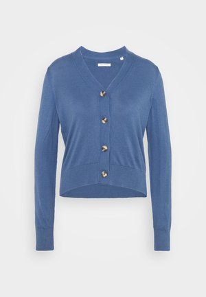 CARDIGAN LONG SLEEVE V-NECK BUTTON - Cardigan - nothern sky