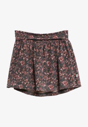 A-line skirt - petroleum flowers