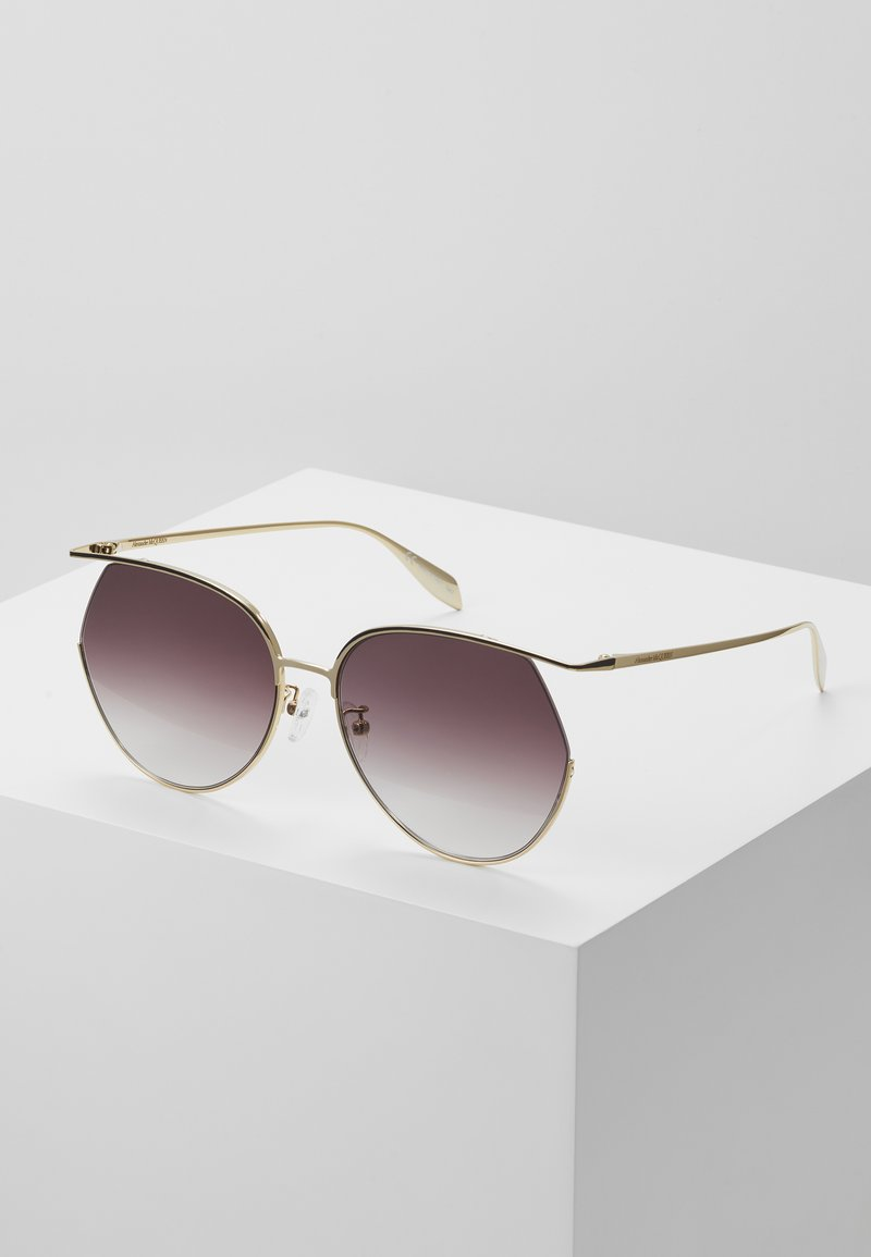 Alexander McQueen - SUNGLASS WOMAN  - Sunglasses - gold-coloured/violet