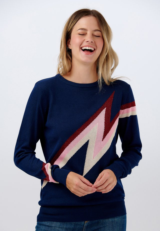 SWEATER RITA SPARKLE SHOCK - Sweatshirt - navy