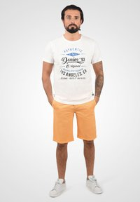 Solid - RON - Denim shorts - orange chi - 1