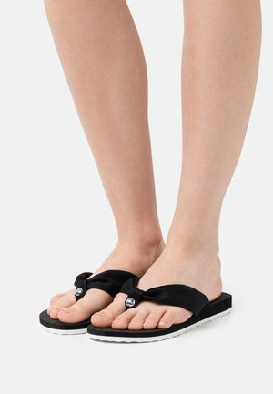 EBBA THONGS - T-bar sandals - black