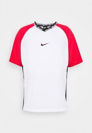 Print T-shirt - white/university red/black