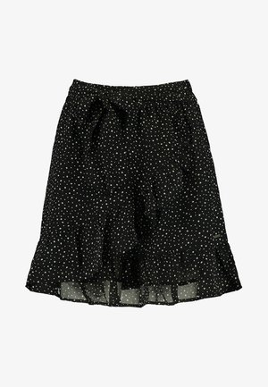 ROSE-ANN - A-line skirt - black/white