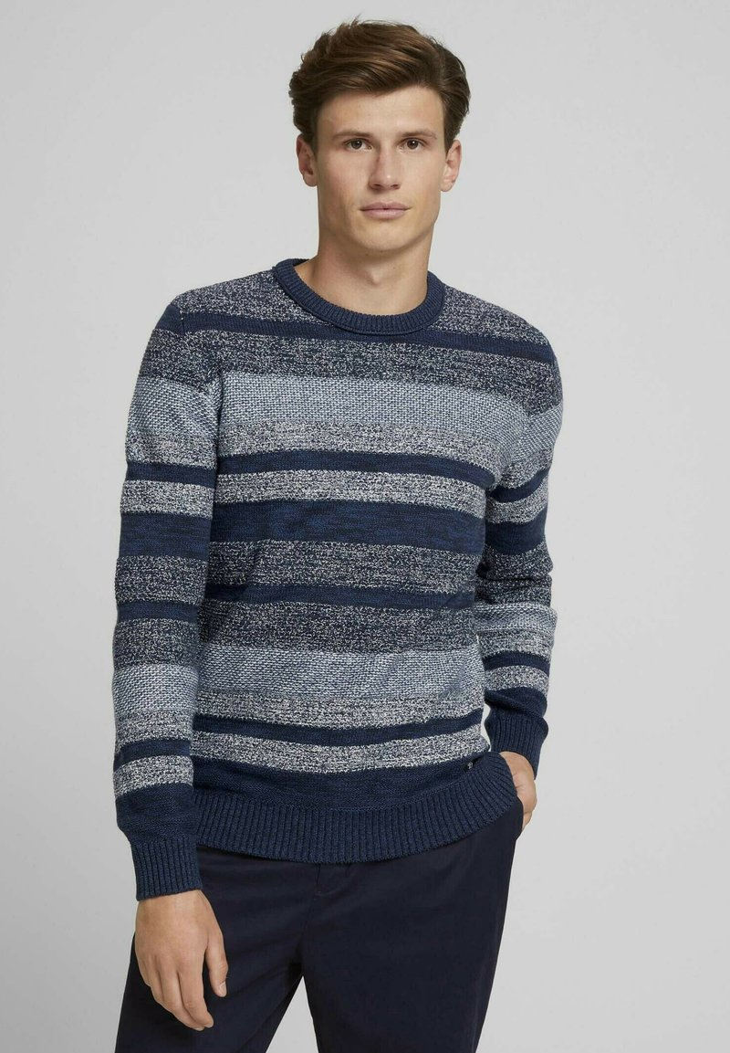 TOM TAILOR DENIM - Jumper - mouline stitch mix pattern