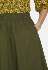 Gestuz - CASSIAGZ  - A-line skirt - dark olive - 4