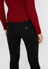Benetton - RIDER PANTS - Trousers - black - 6