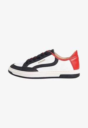 Sneakers laag - white/black/red