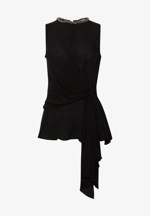 WRAPPED CHAIN TOP - Blouse - black