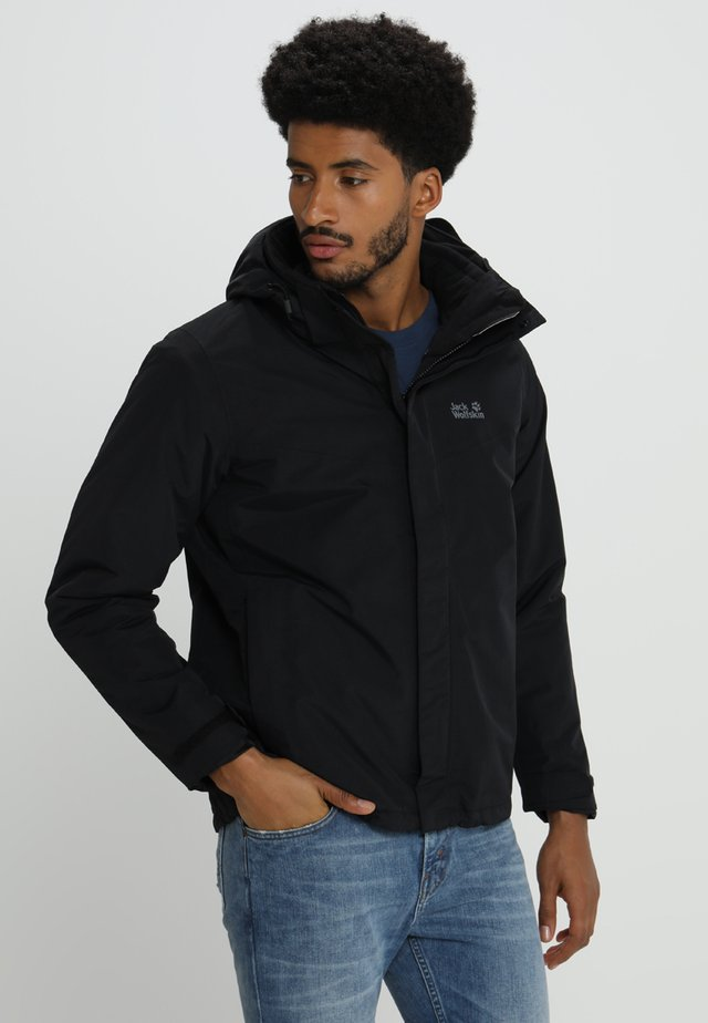 GOTLAND 2-IN-1  - Chaqueta outdoor - black