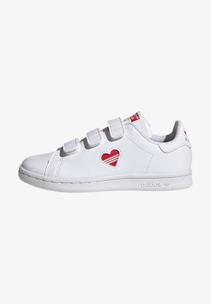 STAN SMITH CF C PRIMEGREEN ORIGINALS SNEAKERS SHOES - Sneakers - white/vivid red