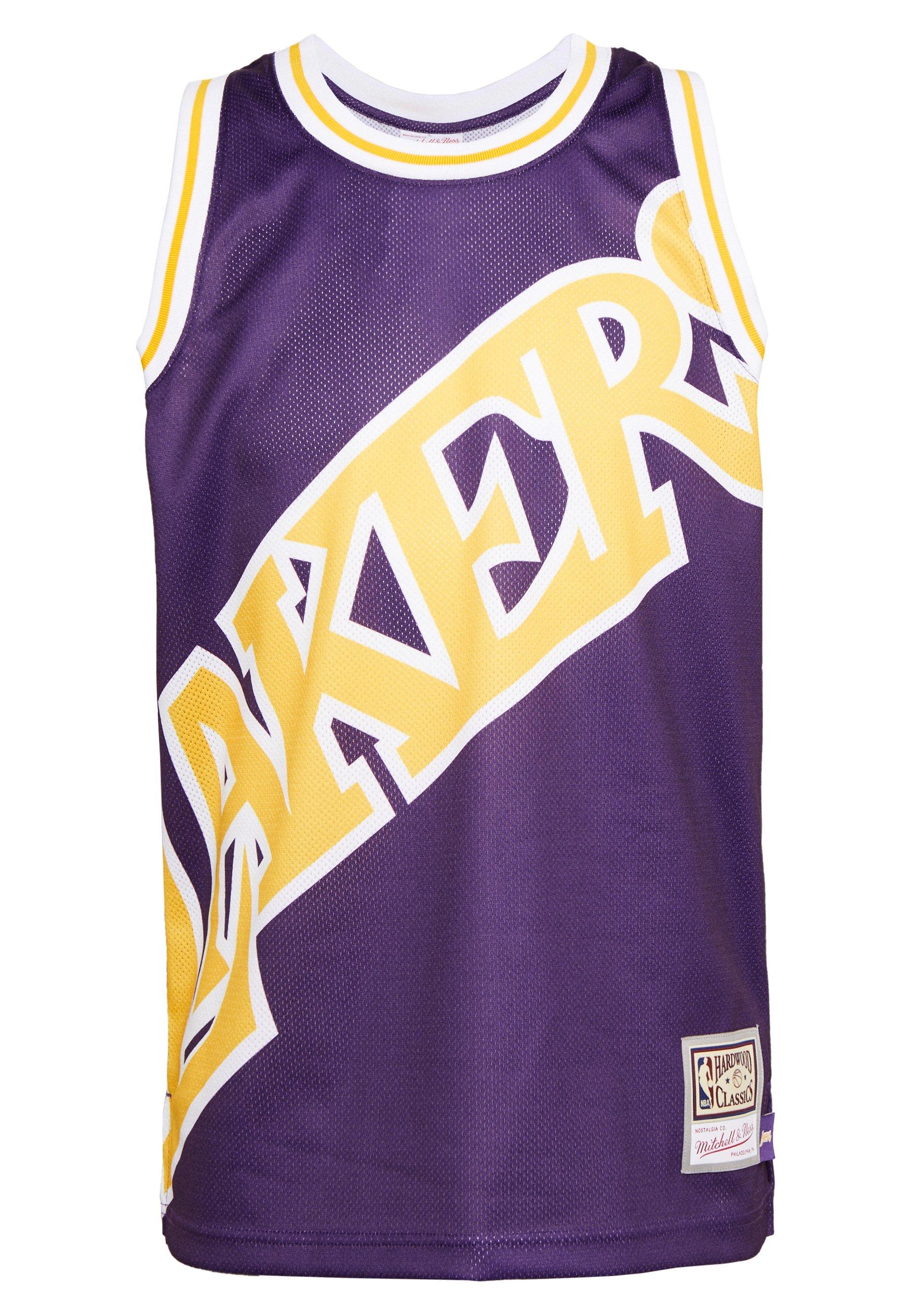Mitchell & Ness NBA LA LAKERS BIG FACE LAKERS  - Article de supporter - purple