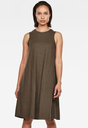 TANK  - Jersey dress - dk smoke green