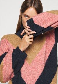 Victoria Victoria Beckham - OVERSIZED MOCK NECK JUMPER - Sweter - multi coloured - 3