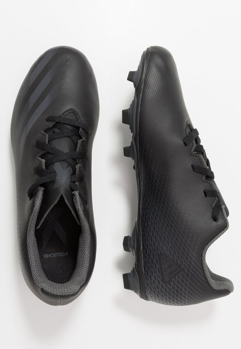 adidas Performance - GHOSTED.4 FXG UNISEX - Moulded stud football boots - core black/grey six