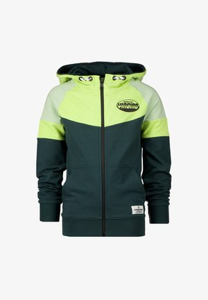 OLEG - Zip-up sweatshirt - steel green