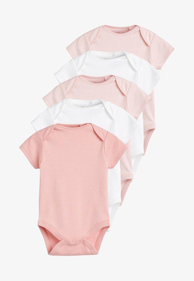 5PACK - Jednoduché triko - pink