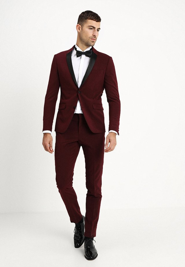 TUX SLIM FIT - Suit - bordeaux