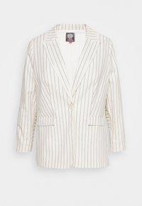 STRIPE FRINGE TRIM - Krátký kabát - white