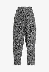 Obey Clothing - ALMA CROPPED PANT - Kalhoty - black/white - 3