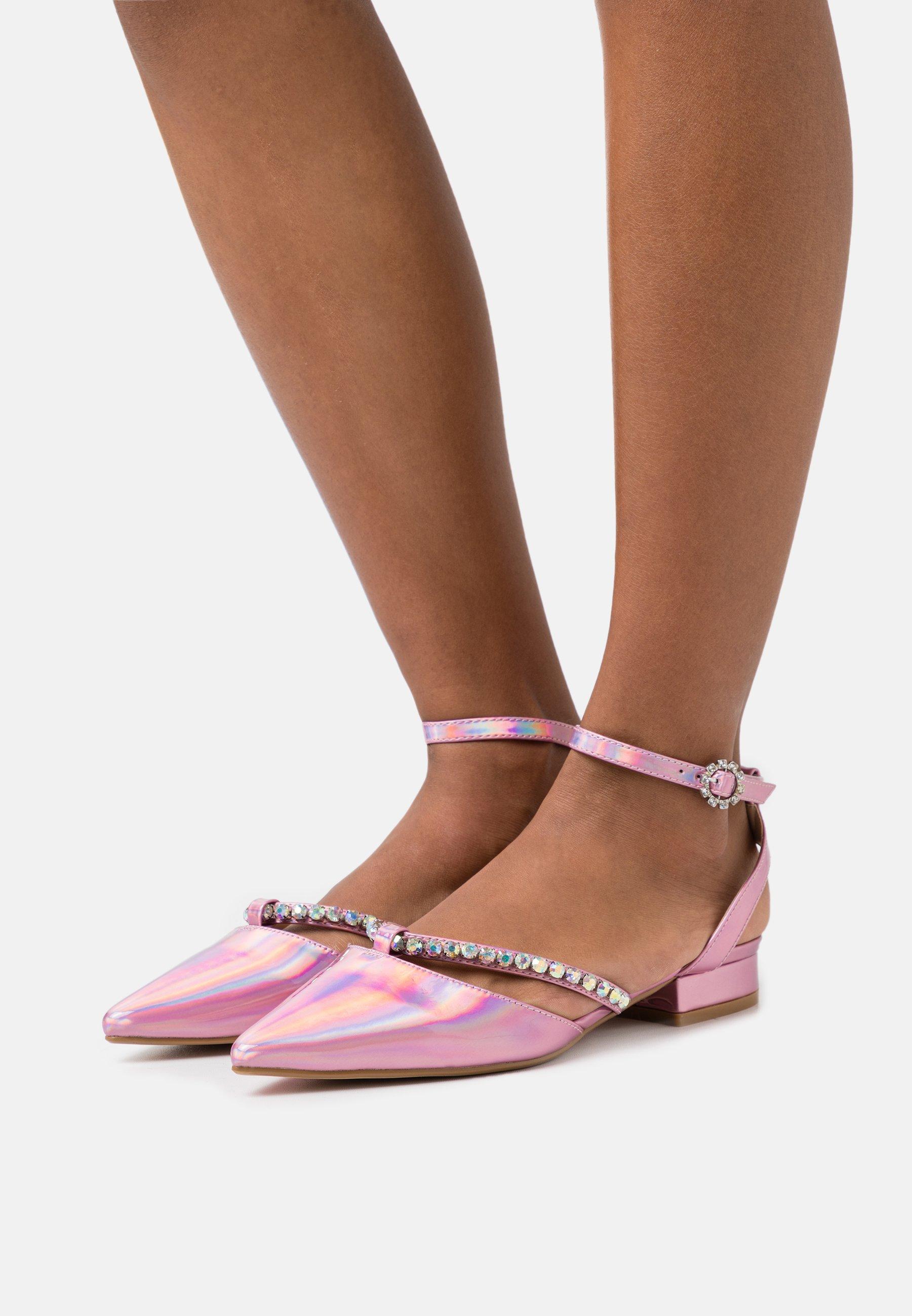 Women MELANY - Ankle strap ballet pumps - pink