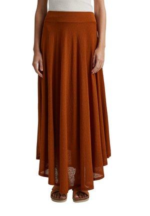 LONG - Maxi skirt - caramel