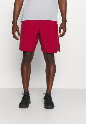 FLEX SHORT - kurze Sporthose - pomegranate/black