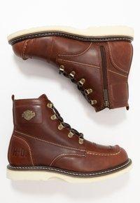 Harley Davidson - HAGERMAN - Šněrovací kotníkové boty - rust - 1