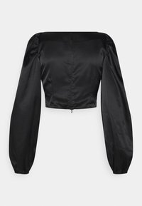 Nly by Nelly - RUCHED UP BLOUSE - Blouse - black - 1