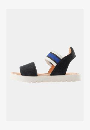 Sandalen met plateauzool - dunkelblau