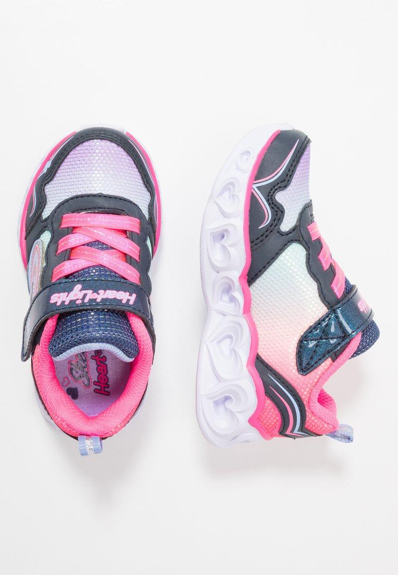 Skechers - HEART LIGHTS - Matalavartiset tennarit - neon pink/multicolor sparkle