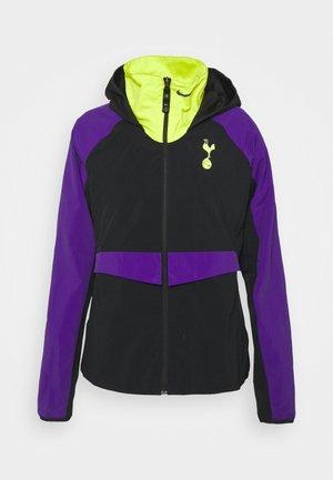 TOTTENHAM HOTSPURS - Sportovní bunda - black/green/court purple