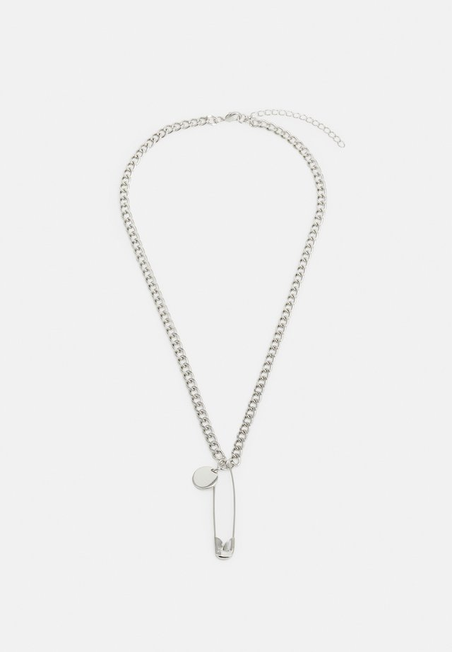 SAFETY PIN NECKLACE - Naszyjnik - silver-coloured