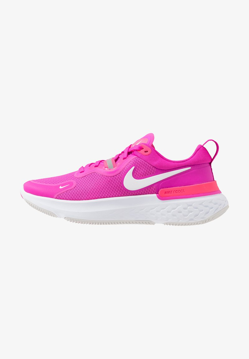 Nike Performance - REACT MILER - Nøytrale løpesko - fire pink/white/team orange/vast grey