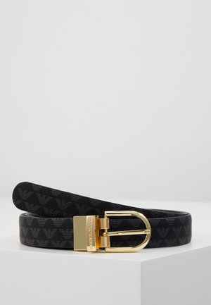 TONGUE REVERSIBLE LOGO - Belt - nero
