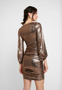 Club L London - PLUNGE RUCHED DRESS - Cocktail dress / Party dress - bronze - 3