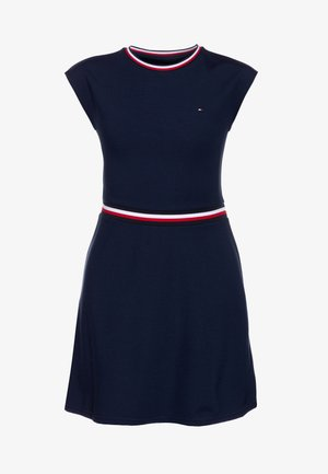 ESSENTIAL SKATER DRESS  - Žerzejové šaty - blue