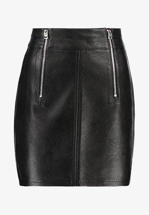ETTA ZIP - A-line skirt - black