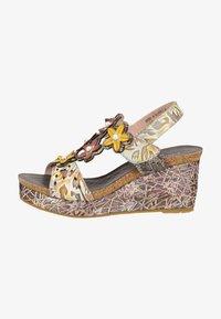 LAURA VITA - Platform sandals - grey - 0